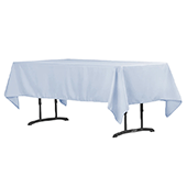 "60"" x 102"" Rectangular 200 GSM Polyester Tablecloth - Dusty Blue"