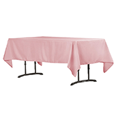 "60"" x 102"" Rectangular 200 GSM Polyester Tablecloth - Dusty Rose/Mauve"