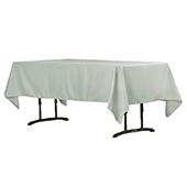 "60"" x 102"" Rectangular 200 GSM Polyester Tablecloth - Gray/Silver"