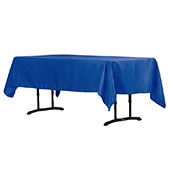 "60"" x 102"" Rectangular 200 GSM Polyester Tablecloth - Royal Blue"