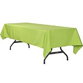 "60"" x 120"" Rectangular 200 GSM Polyester Tablecloth - Apple Green"