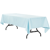 "60"" x 120"" Rectangular 200 GSM Polyester Tablecloth - Baby Blue"