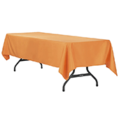 "60"" x 120"" Rectangular 200 GSM Polyester Tablecloth - Burnt Orange"
