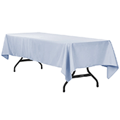 "60"" x 120"" Rectangular 200 GSM Polyester Tablecloth - Dusty Blue"