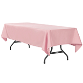 "60"" x 120"" Rectangular 200 GSM Polyester Tablecloth - Dusty Rose/Mauve"