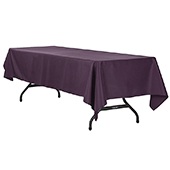 "60"" x 120"" Rectangular 200 GSM Polyester Tablecloth - Eggplant/Plum"
