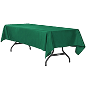 "60"" x 120"" Rectangular 200 GSM Polyester Tablecloth - Emerald Green"