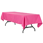 "60"" x 120"" Rectangular 200 GSM Polyester Tablecloth - Fuchsia"