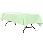 "60"" x 120"" Rectangular 200 GSM Polyester Tablecloth - Mint Green"