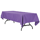 "60"" x 120"" Rectangular 200 GSM Polyester Tablecloth - Purple"