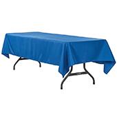 "60"" x 120"" Rectangular 200 GSM Polyester Tablecloth - Royal Blue"