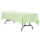 "60"" x 120"" Rectangular 200 GSM Polyester Tablecloth - Sage Green"