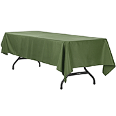 "60"" x 120"" Rectangular 200 GSM Polyester Tablecloth - Willow Green"