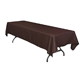 "60"" x 126"" Rectangular 200 GSM Polyester Tablecloth - Chocolate Brown"