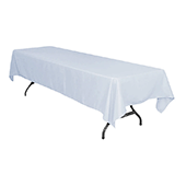 "60"" x 126"" Rectangular 200 GSM Polyester Tablecloth - Dusty Blue"