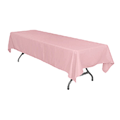 "60"" x 126"" Rectangular 200 GSM Polyester Tablecloth - Dusty Rose/Mauve"