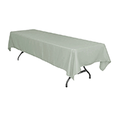 "60"" x 126"" Rectangular 200 GSM Polyester Tablecloth - Gray/Silver"