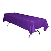 "60"" x 126"" Rectangular 200 GSM Polyester Tablecloth - Purple"
