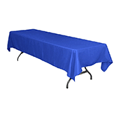 "60"" x 126"" Rectangular 200 GSM Polyester Tablecloth - Royal Blue"