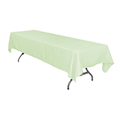 "60"" x 126"" Rectangular 200 GSM Polyester Tablecloth - Sage Green"