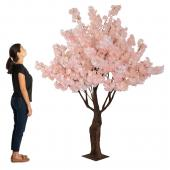 6.5FT Tall Fake Hydrangea Bloom Tree - Blush/Light Pink