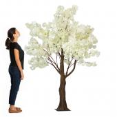 6.5FT Tall Fake Hydrangea Bloom Tree - 10 Interchangeable Branches - White