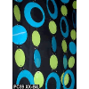 6ft Blue and Lime Hip Circle PVC Curtain
