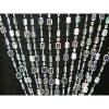 6ft Emerald Cut Crystal Iridescent Curtain