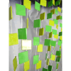 6ft Green and Lime Retro Square Non-Iridescent Curtain