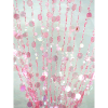 6ft Pink Iridescent Champagne Bubble Curtain