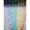 6ft Rainbow Iridescent Pendant Swirl Curtain