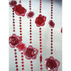 6ft Red Rose Iridescent Curtain
