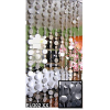 6ft White Faux Capiz PVC Curtain