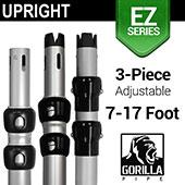 EZ Series - 3-Piece Adjustable Upright w/Slip-Lock (7ft-17ft)