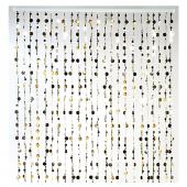 "Decostar™ 6ft ""Bubbles"" Beaded Curtain - Gold"