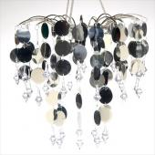 Decostar™ Round PVC Circle Chandelier with Crystals - Silver