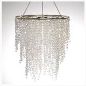 Decostar™ Crystal Iridescent Diamond Cut Chandelier Short Three Layered