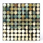 Decostar™ Shimmer Wall Panels w/ Black Backing & Round Sequins - 24 Tiles - Glitter Champagne
