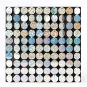 Decostar™ Shimmer Wall Panels w/ Black Backing & Round Sequins - 24 Tiles - Glitter Holographic