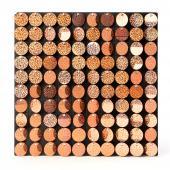 Decostar™ Shimmer Wall Panels w/ Black Backing & Round Sequins - 24 Tiles - Gold - Glitter Rose Gold
