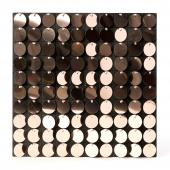 Decostar™ Shimmer Wall Panels w/ Black Backing & Round Sequins - 24 Tiles - Metallic Champagne