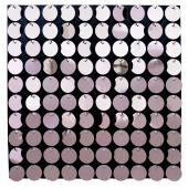 Decostar™ Shimmer Wall Panels w/ Black Backing & Round Sequins - 24 Tiles - Pink