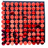 Decostar™ Shimmer Wall Panels w/ Black Backing & Round Sequins - 24 Tiles - Red