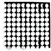 Decostar™ Shimmer Wall Panels w/ Black Backing & Round Sequins - 24 Tiles - Silver