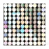 Decostar™ Shimmer Wall Panels w/ Black Backing & Round Sequins - 24 Tiles - White Iridescent