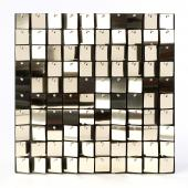Decostar™ Shimmer Wall Panels w/ Black Backing & Square Sequins - 24 Tiles - Champagne