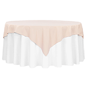 "72"" Square 200 GSM Polyester Tablecloth / Overlay - Blush/Rose Gold"