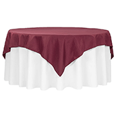 "72"" Square 200 GSM Polyester Tablecloth / Overlay - Burgundy"