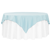 "72"" Square 200 GSM Polyester Tablecloth / Overlay - Baby Blue"