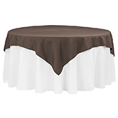 "72"" Square 200 GSM Polyester Tablecloth / Overlay - Chocolate"